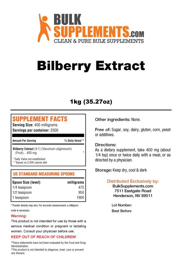 Bulksupplements Bilberry Extract Powder (5 kilograms) by BulkSupplements (Image #2)