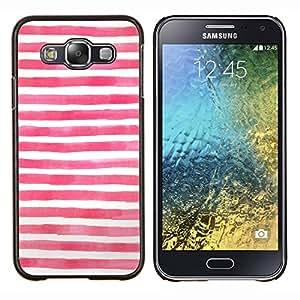 Caucho caso de Shell duro de la cubierta de accesorios de protección BY RAYDREAMMM - Samsung Galaxy E5 E500 - Bandera azul blanca roja Usa
