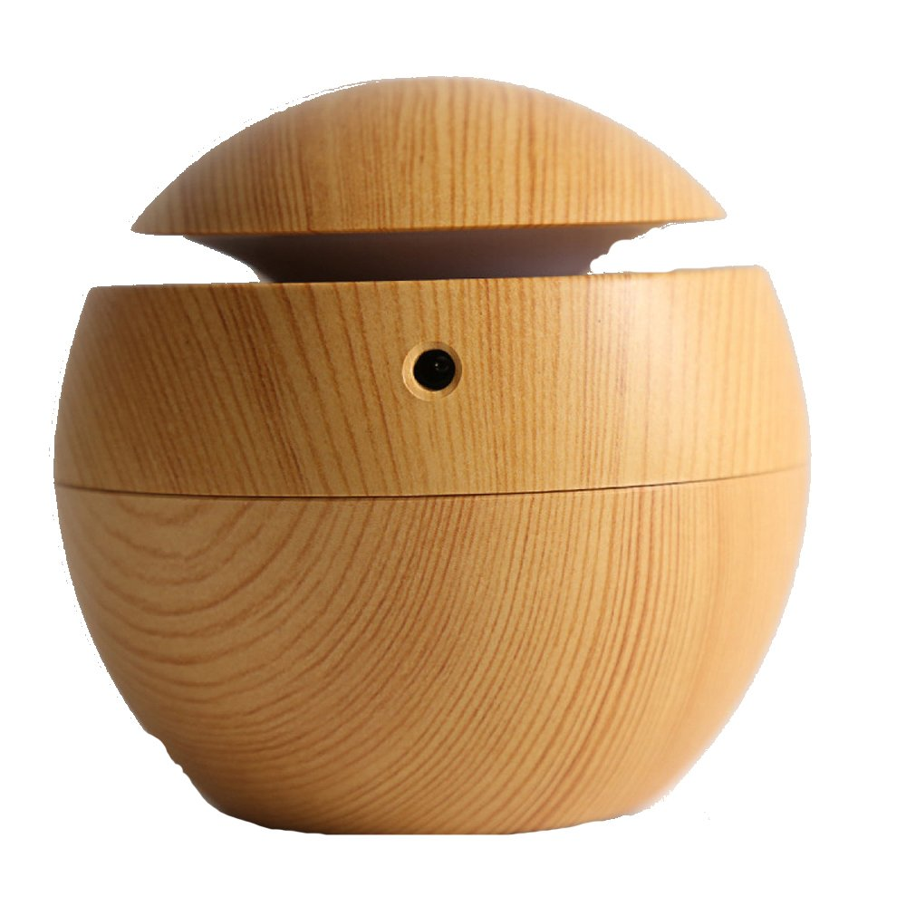 Ultraschall Luftbefeuchter 130ml Essential Oil Diffuser USB Aromatherapy Humidifier Air Purifier With Waterless Automatically Shut-off For Home Yoga Office Spa Bedroom Baby Room-Wood Grain,B