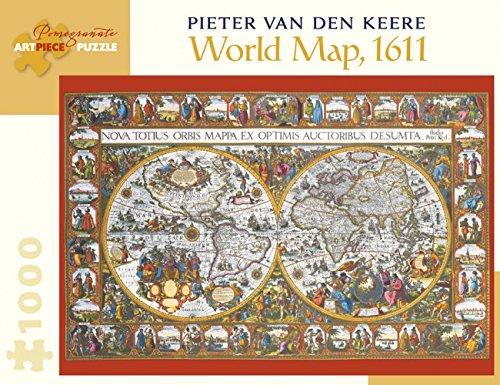 Van Pieter - Pieter Van Den Keere World Map 1000-Piece Jigsaw Puzzle Aa902