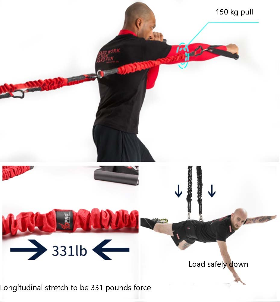 YNXing Aerial vitality bungee rope| resistance rope |air yoga stretch belt |yoga rope fitness vitality rope for Men and Woman by YNXing (Image #3)