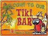 Tiki Bar Novelty Metal Parking Sign from Redeye Laserworks