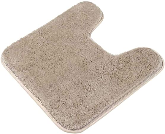 Soft Flannel 40*60cm U Shaped Toilet Anti Slip Rug Mats Bath Mats Free Shipping