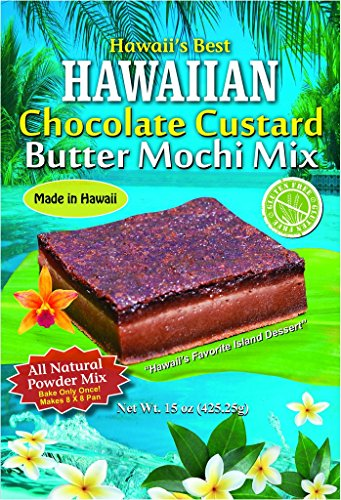 Hawaii's Best Chocolate Custard Butter Mochi Mix (With 100% Ghirardelli Cocoa) by Hawaii's Best
