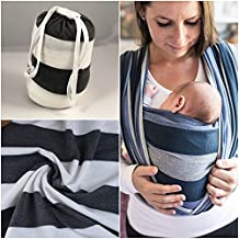 Baby Wrap Baby Carrier Baby Sling in grey white colour