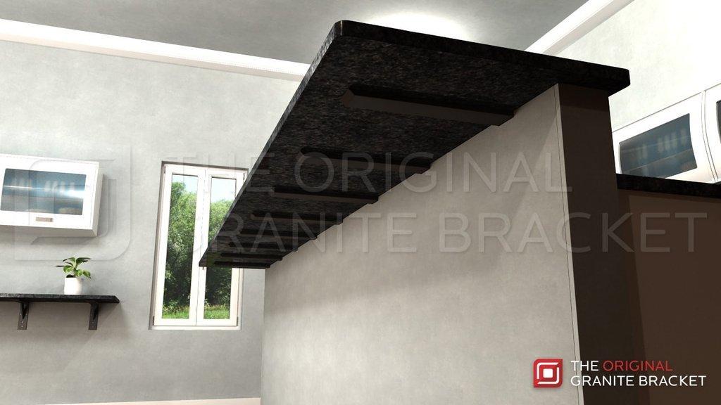 Hidden Countertop Support Brackets 21'' Steel L-Bracket