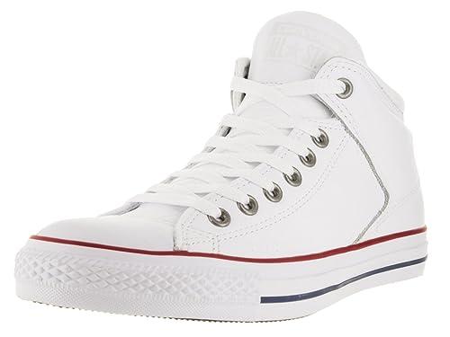 f463b2e4dde9b6 Converse Chucks 151053C Weissleder AS HI Street Leather White Leather  Gamet