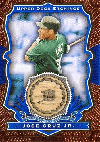 2004 Upper Deck Etchings Game Bat Blue #JC Jose Cruz Jr. Game-Used Memorabilia Card