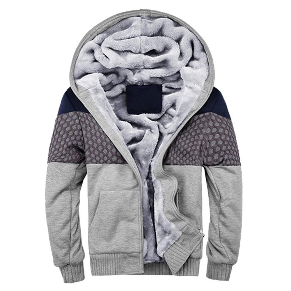 BaZhaHei Uomo Top, Casual Men Outwear Irregolare Cerniera Laterale Manica Winter Warm Fleece Hood Zipper Sweater Jacket Outwear Coat Sciolto Manica Lunga Top Hooded Camicetta
