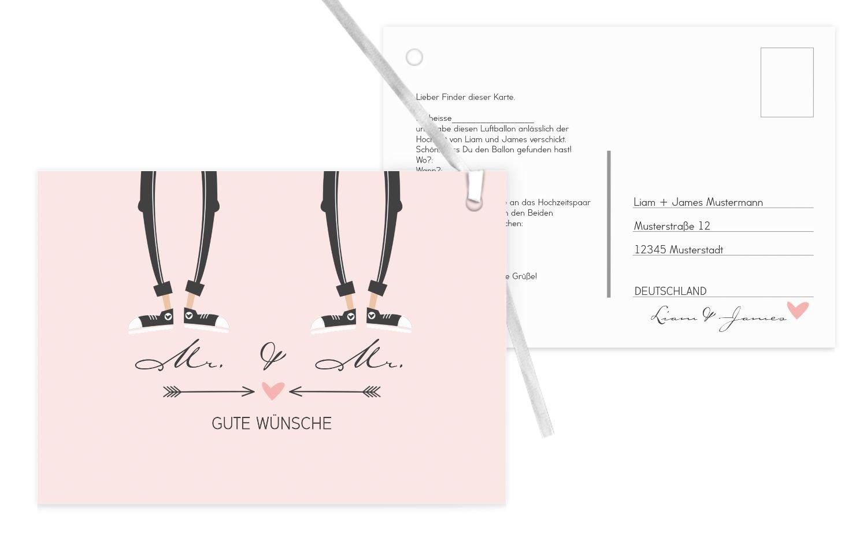 Ballonkarte Pärchen - - - Männer, 90 Karten, Weiß B07CQBZVX3   Haltbarer Service    Online    Zürich Online Shop  3c4317
