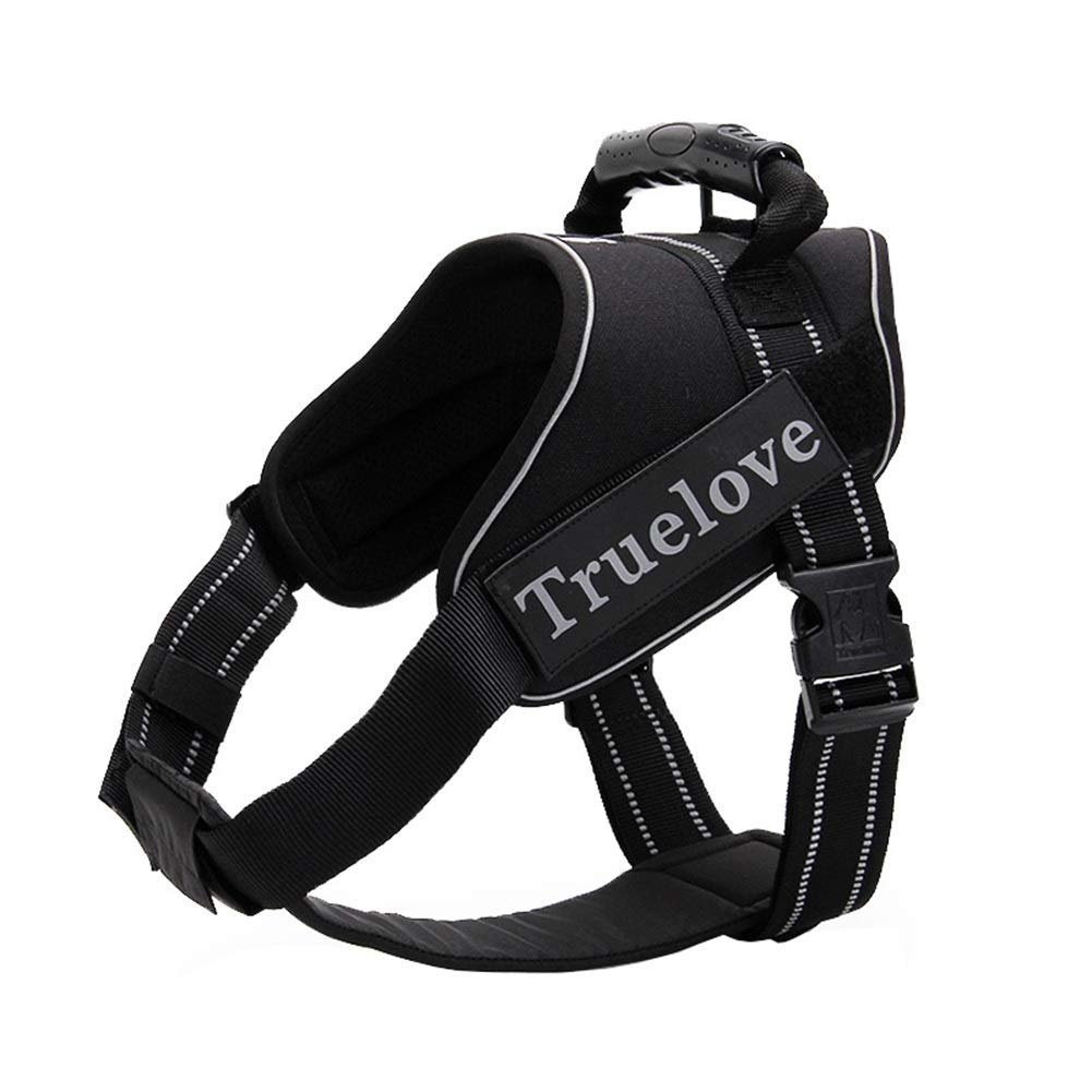 BLACK L(63-85cm) BLACK L(63-85cm) Dog Vest Harness, Reflective Strip Chest Strap Training Or Walking Traction Leash Chain Suitable For Puppy Medium Large Collars Rope Durable Breathable Safety Harness