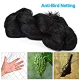 Yosooo Anti-Bird Net, 50 x 100FT Heavy Duty Grape Protection Netting Fruit Vegetables Plant Flower Mesh Netting for Farms Black 55cm Mesh