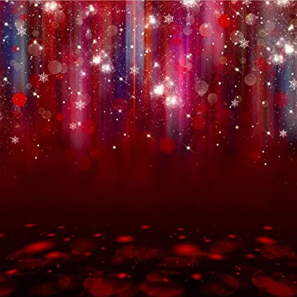 Amazon.com   8x8 ft Red Twinkle Christmas Background Party Halo ... ac3d65928