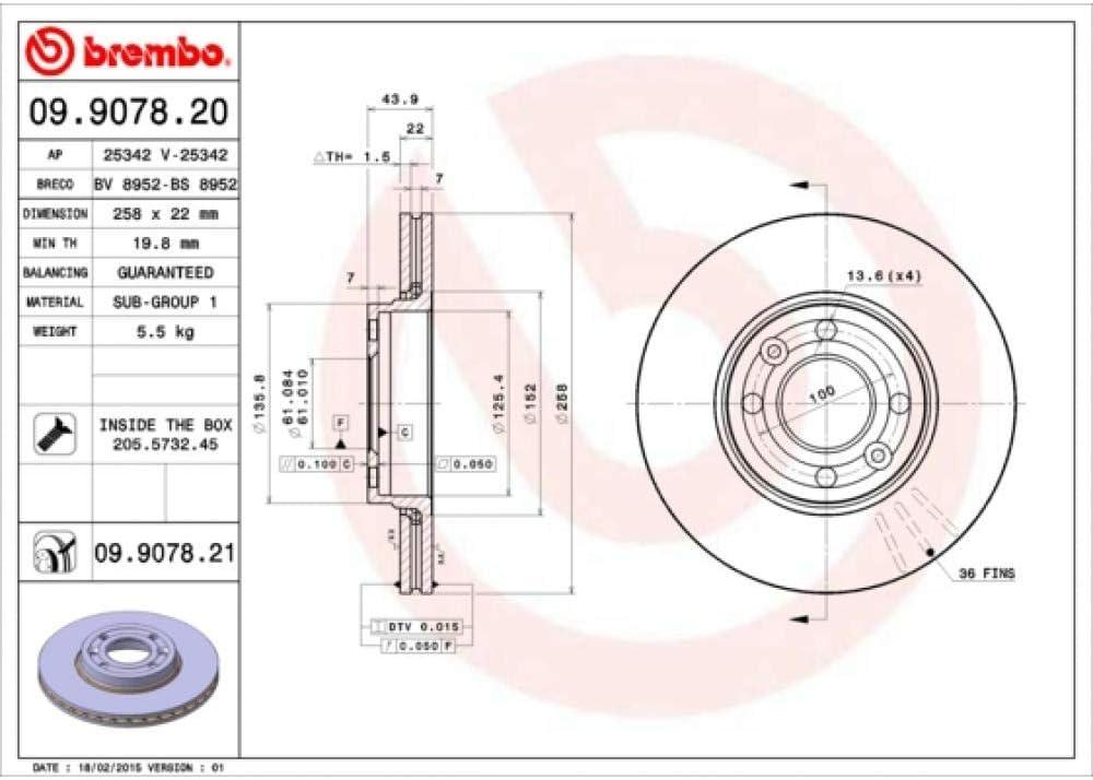 Disco freno COATED DISC LINE Brembo 09.9078.21