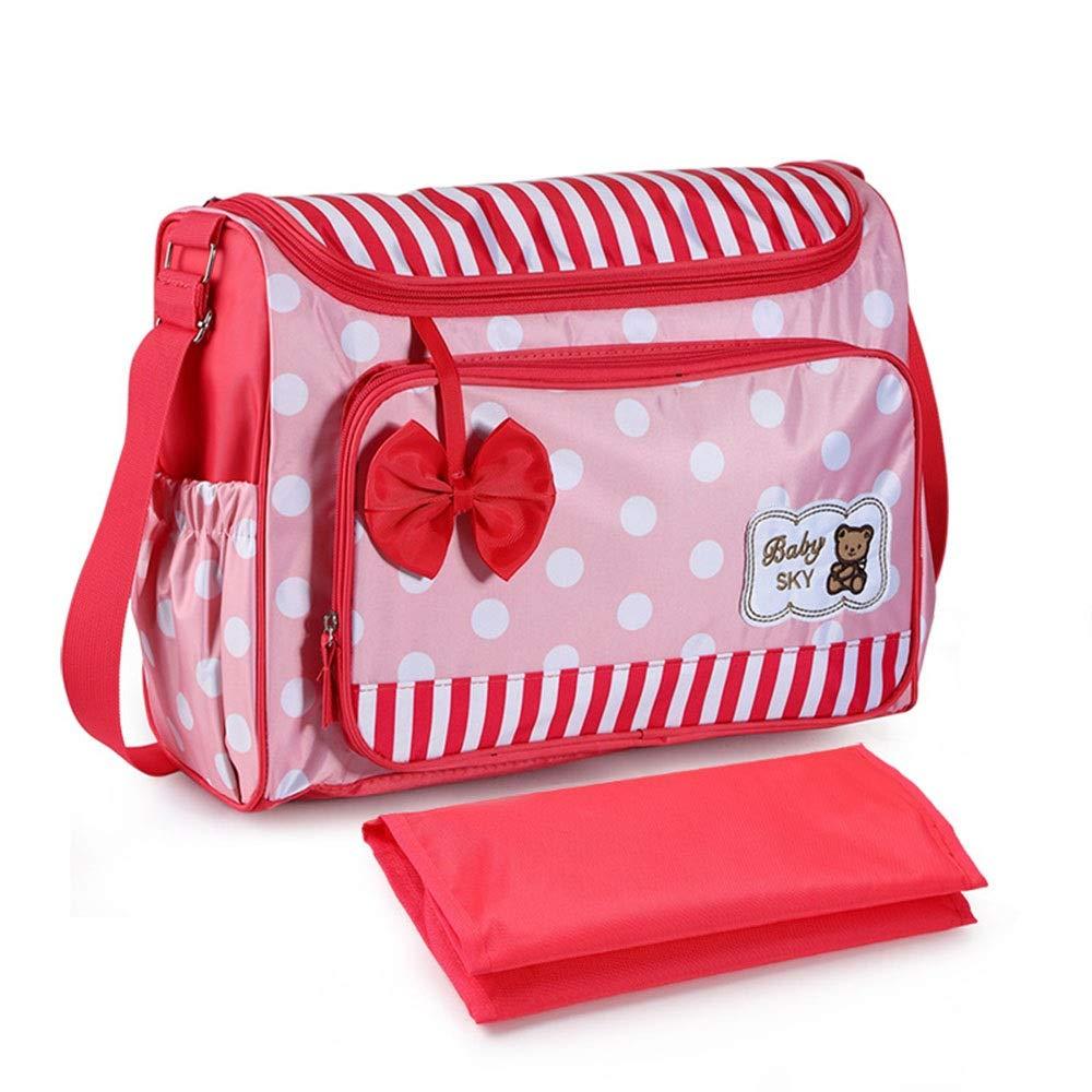 Stroller Organizer Universal Baby Stroller Organizer Bag Hanging Storage BagWaterproof Diaper Bag Fits All Strollers Outdoor Essential Parents Stroller Organizer Bag (Color : Red, Size : Free Size)
