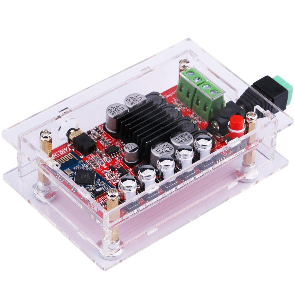 Audio Stereo Amplificatore, Yeeco Gain 100W + 100W Hifi Mini Bluetooth Amplificatore, Audio Ricevitore, Doppio Canale Bluetooth Energia Amplificatori Amp Ampli Tavola DC 8-20V Powered con Ingresso AUX 1600092EU