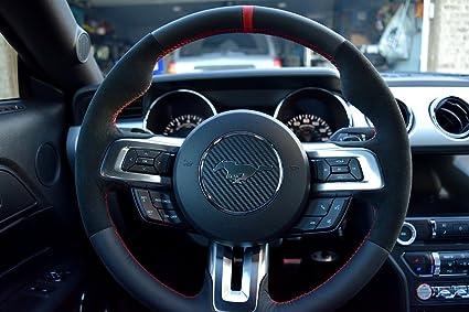 Ford Mustang 2015-16 cubierta del volante de RedlineGoods