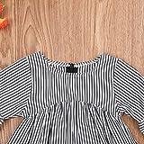 Baby Girl Stripe Top Blouse Autumn Ruffle Sleeve