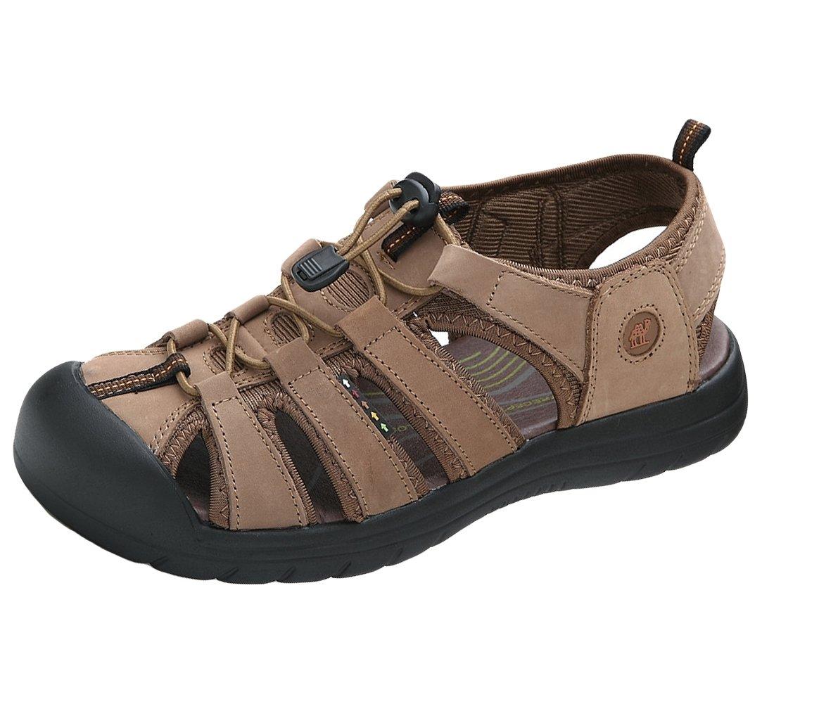 Insun Sandalia Hombre Verano Calzados Sandalias de Senderismo 43 EU|Marrón 1