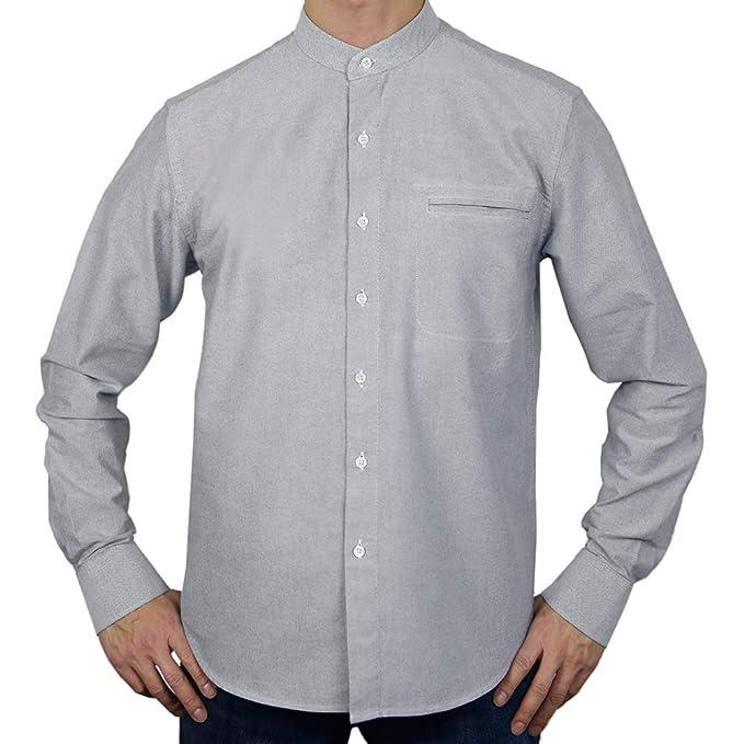 Sinologie - Camisa de Vestir - Cuello Mao - para Hombre: Amazon.es ...