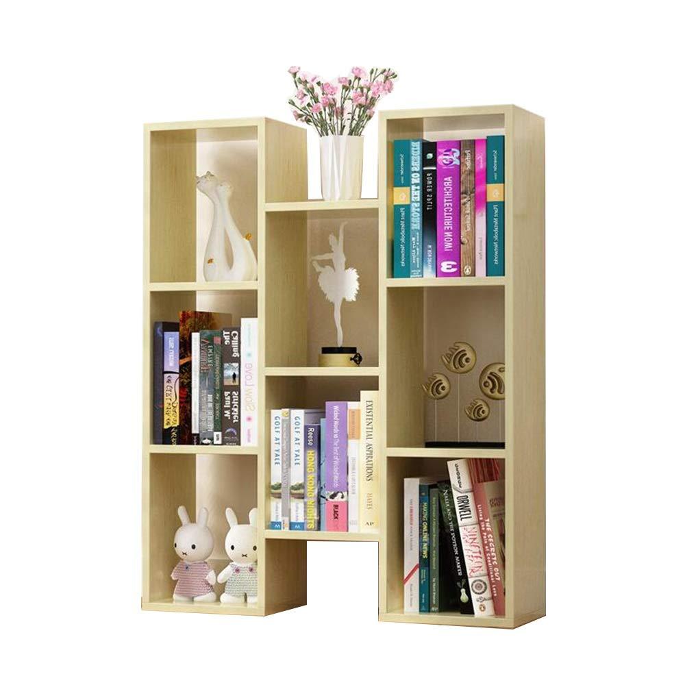 Qi Peng Bookshelf - Floor-Standing Multi-Function Multi-Shelf Storage Shelf 72.4 X 20 X 90cm (5 Colors to Choose from) (Color : E)