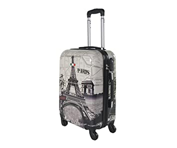 5 Cities Bagage Cabine Bagage à Main Valise Polycarbonate Rigide à 4 Roulettes , Approuvées pour Ryanair , Easyjet , Air France , Lufthansa , Jet2 et Plus , Nuit