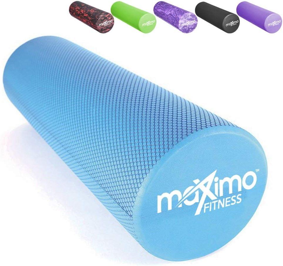 Rodillo de espuma Maximo Fitness – Rodillo muscular superior – Punto de disparo – 15 cm x 45 cm – Herramienta perfecta de auto-masaje para el hogar, gimnasio, pilates, yoga – Instrucciones incluidas