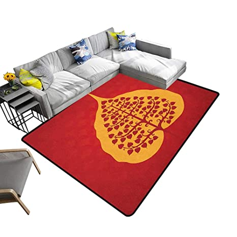 Amazon.com: Leaf Decorative Floor mat Artistic Design of ...
