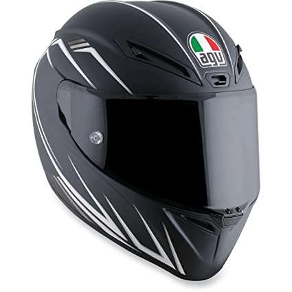 AGV Veloce-8 Veloce S Adult Helmet - Black/White / Medium/Large