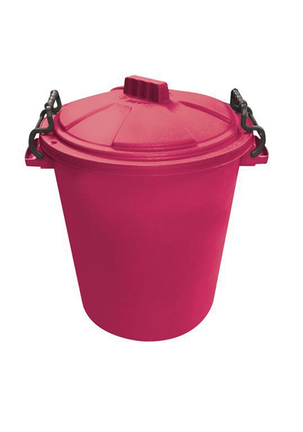 Saddlers Heavy Duty Dustbin with Clip On Lid, 50 Liter, Green 957-0050GN