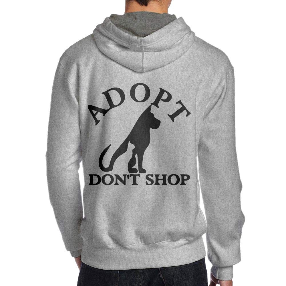 JHDKDGH-N Adopt Dont Shop Back Print Long Sleeve Sweater for Men