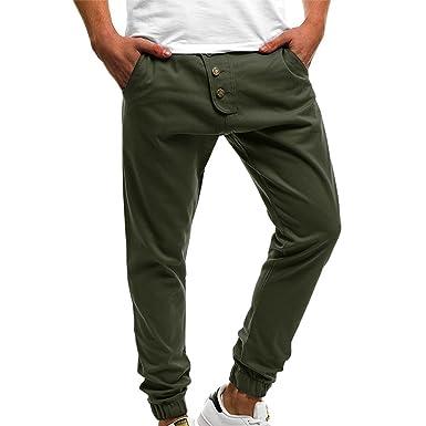 c9c6409d5cb MCYs Jogging Pantalons de Survêtement Ceinture Élastique Sport Cargo  Pantalons avec Poches Joggers Activewear Pantalons pour Homme(M-4XL   Amazon.fr  ...