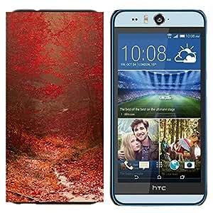 EJOOY---Cubierta de la caja de protección para la piel dura ** HTC Desire Eye M910x ** --Planta Naturaleza Forrest Flor 97