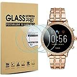 Suoman 3-Pack for Fossil Gen 5 Julianna HR Screen Protector Tempered Glass for Fossil Women Gen 5 Julianna HR Smartwatch [2.5D 9H Hardness] [Anti-Scratch]