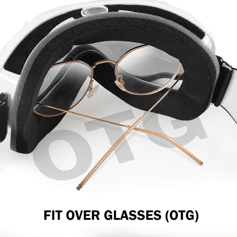 Compatible con ni/ños y ni/ñas Qinsnow Gafas de esqu/í Gafas de esqu/í y Snowboard con Correa Antideslizante y antiniebla