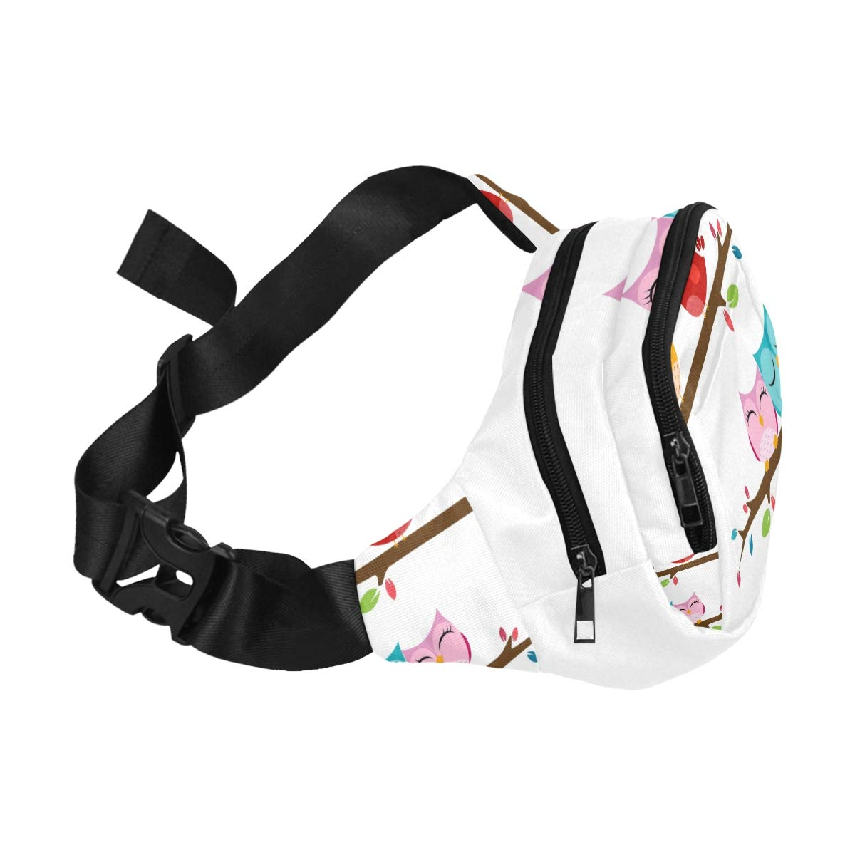 Tree With Musical Notes And Birds Fenny Packs Waist Bags Adjustable Belt Waterproof Nylon Travel Running Sport Vacation Party For Men Women Boys Girls Kids