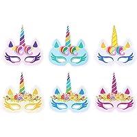 VWH Mixed 12 Paillettes Masque Licorne Party Chapeau D'anniversaire