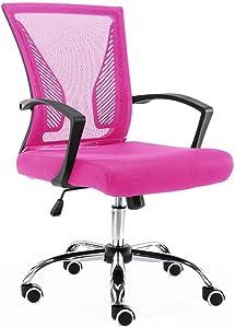 Modern Home ZUNA-BKPINK Office Chair, Black/Pink