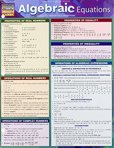 Algebraic Equations (Quick Study Academic)