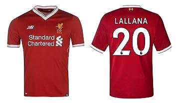 db4086db5 Liverpool FC Men s Football Shirt 2017 2018 Home - Lallana 20 ...