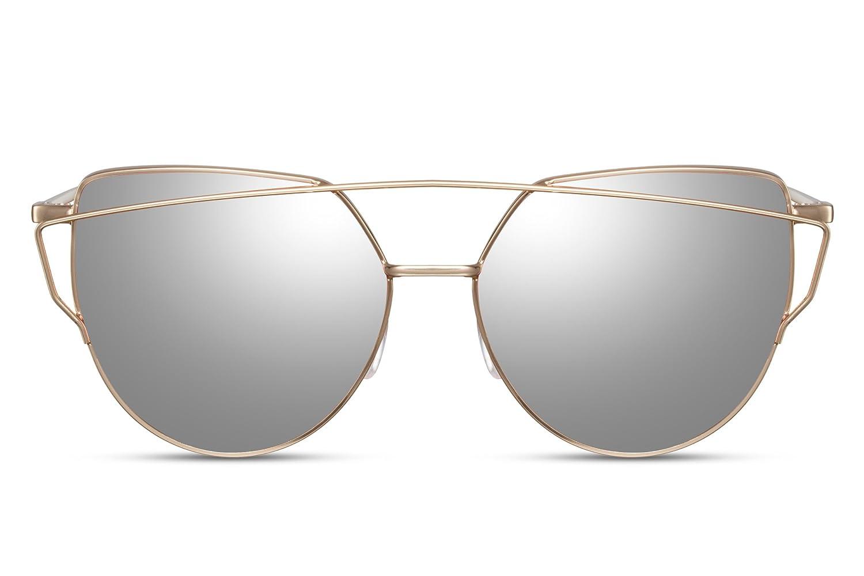 Cheapass Occhiali da Sole Specchiati Rotondi Lenti d'Argento UV400 Metallo Maschi Femmine b4OHOflE