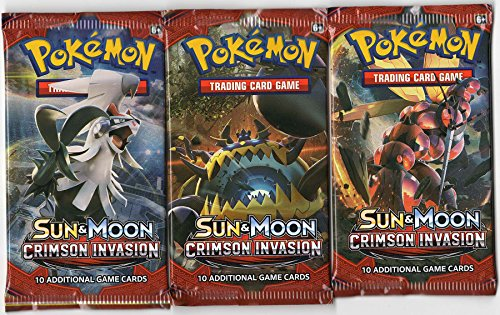 Dark Moon Card Set (Pokemon - Sun and Moon Crimson Invasion Booster Pack - Set of 3)