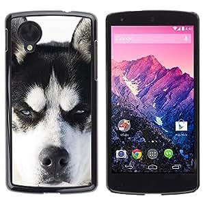 King Case - FOR LG Nexus 5 D820 D821 - Huskies Husky Dog Paws Cute - Caja protectora de pl??stico duro Dise?¡Àado
