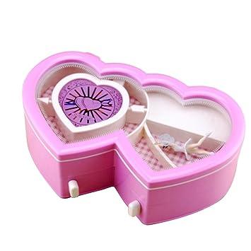 Amazon.com: Samber Music Jewelry Box Heart-Shape Dancing Girl Music ...