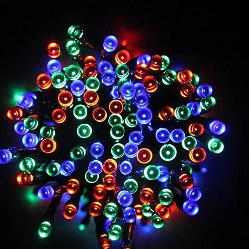 Solar String Lights 20M 64 ft 200 LED Fairy Garden Path Lights for Patio, Outdoor D cor, Holiday, Party, Landscape Lighting, Christmas Tree, Mutli Color