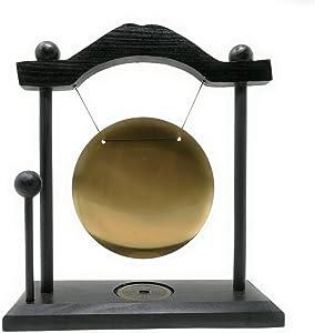 THY COLLECTIBLES Zen Art Brass Feng Shui Desktop Gong with Rammer