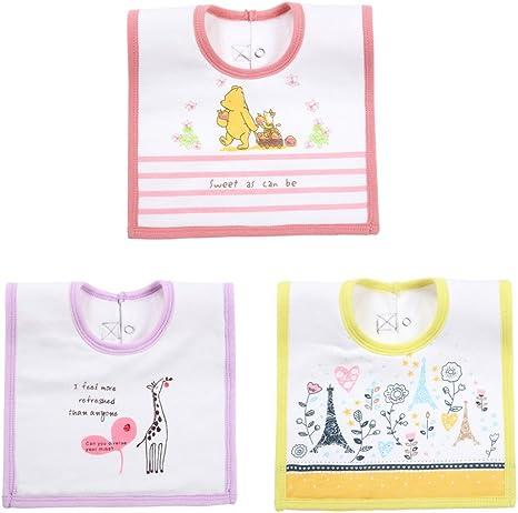 3 Pack niños niñas bebé baberos Super resistente al agua algodón con estilo Bandana Dribble dentición de destete babero de dibujos animados para bebés y niños 3 pcs for C: Amazon.es: Bebé