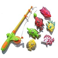 Tokari wala Role Play Fishing Toy Game with Rod and Fishes(Multicolour)