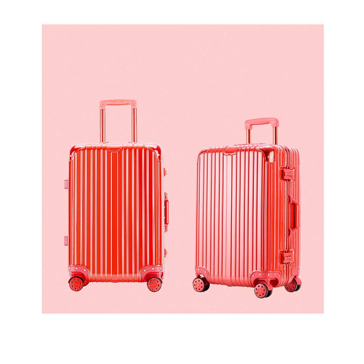 Travel Organizer Carry-on Luggage Huijunwenti Hard Rotating Suitcase Color : Red, Size : 20 Silver The Latest Style Trolley case Simple 20//24 inch Best Gift