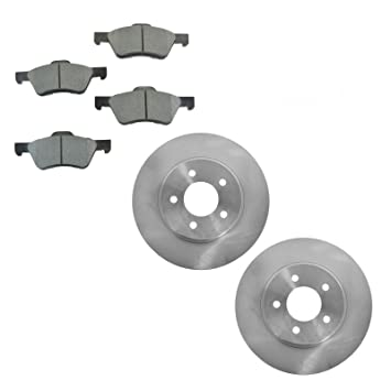 Front Rear Disc Rotors /& Semi-Metallic Brake Pads Fits Ford Mazda Escape Tribute
